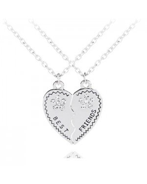 BFF Ketting LGT Jewels Best Friends Heart Zilverkleurig