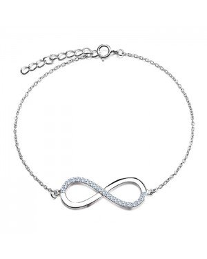 Cilla Jewels armband Silver Infinity