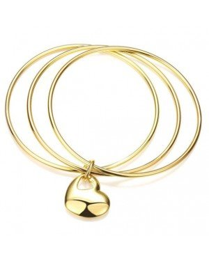Cilla Jewels Bangle Edelstaal Heart Gold
