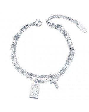 Cilla Jewels Dames Armband Dubbel met Bedels Zilver