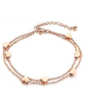 Cilla Jewels Dames Armband met Hartjes Rose