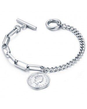 Cilla Jewels Dames Armband met Koningin Elizabeth Munt Zilver