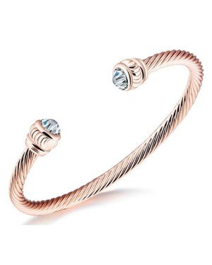 Cilla Jewels Dames Armband Zirkonia Cuff Rose