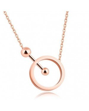 Cilla Jewels dames choker Edelstaal Geometric Circle Rose
