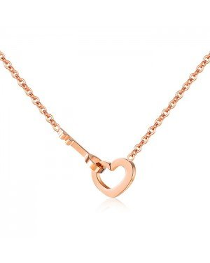 Cilla Jewels dames ketting Edelstaal Verguld Key To My Heart