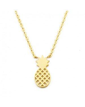 Cilla Jewels dames ketting Pineapple geelgoud Verguld