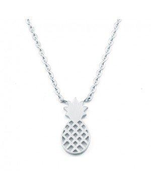 Cilla Jewels dames ketting Pineapple Verzilverd