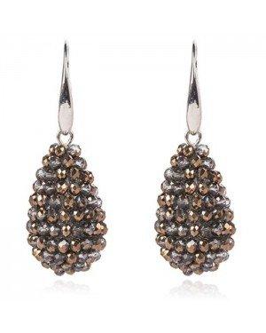 Cilla Jewels Druppel oorhangers Kristal Brons