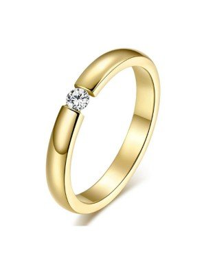 Cilla Jewels edelstaal ring Crystal Gold