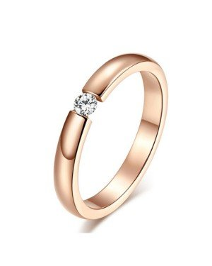 Cilla Jewels edelstaal ring Crystal Rose