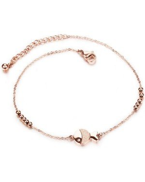 Cilla Jewels enkelband Fish Rose Goud