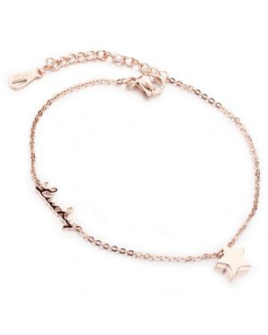 Cilla Jewels enkelband Lucky Star Rose Goud