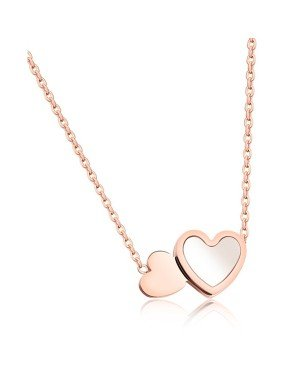 Cilla Jewels ketting Double Heart Rosegoud