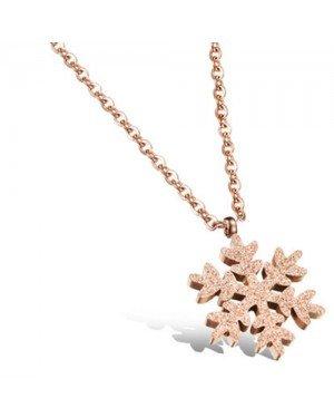 Cilla Jewels ketting Rosegoud Snowflake Pendant