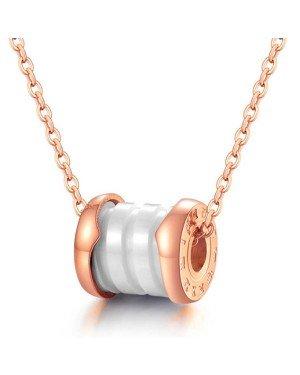 Cilla Jewels ketting Rosegoud Wit Roman Pendant