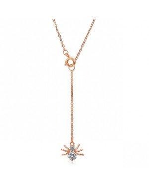 Cilla Jewels ketting Spider rosegoud Verguld