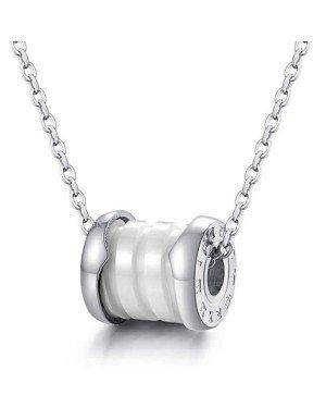 Cilla Jewels ketting Zilver Wit Roman Pendant