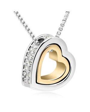 Cilla Jewels kettinghanger hartje Zilver Goud