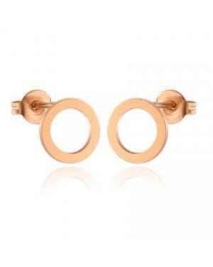 Cilla Jewels oorstekers Edelstaal Open Circle Rose