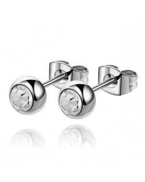 Cilla Jewels oorstekers Zilverkleurig Edelstaal Transparante steen