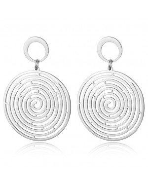 Cilla Jewels Zilveren Damesoorbellen met Geplette Spiraalvorm