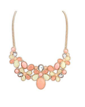 Dames Choker Shourouk Chain Gold Pink