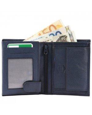 Excellanc heren portemonnee leer Billfold Blauw