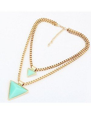 Fashion dames ketting Fashion Geometric Triangle