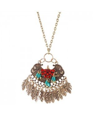 Fashion ketting Vintage Brons Leaf