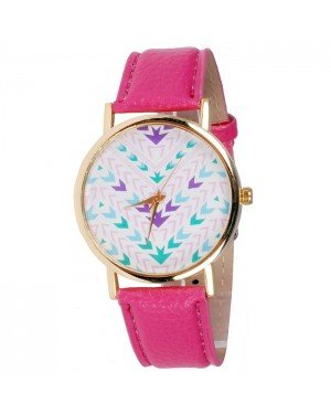 Geneva Fashion horloge Aztec Dark Pink