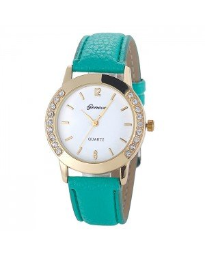 Geneva mode horloge Diamonds Gold Green