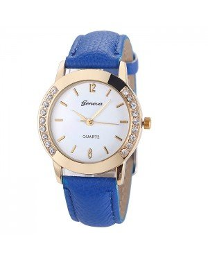 Geneva mode horloge Diamonds Gold Turquoise Blue