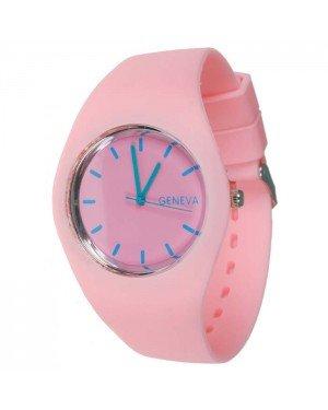 Geneva siliconen horloge Roze