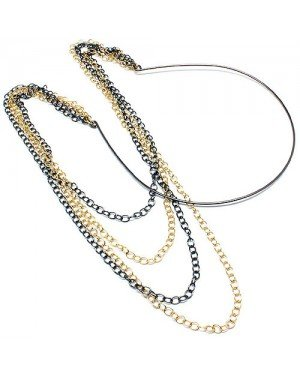 Hippe haarband Chain Gold