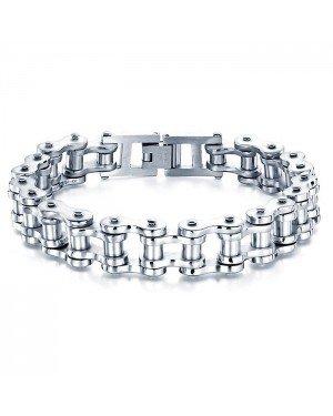 Heren armband Edelstaal Biker Chain Silver