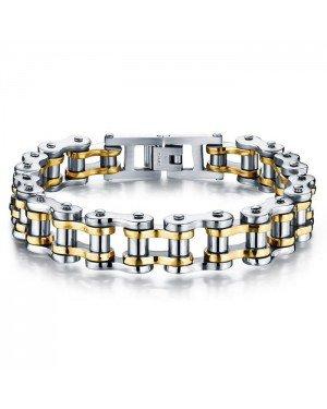 Heren armband Edelstaal Biker Chain Silver Gold