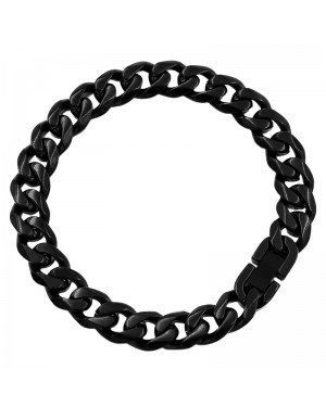 Heren armband Edelstaal Link chain Black 10mm