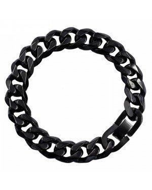 Heren armband Edelstaal Link chain Black 13mm