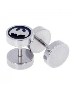 Heren oorbellen Fake Ear Plug Bat