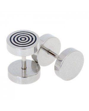 Heren oorbellen Fake Ear Plug Hypnotise