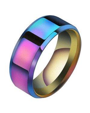 Heren ring Titanium Multicolor 8mm