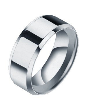 Heren ring Titanium Zilverkleurig 8mm
