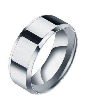 Heren ring Titanium Zilverkleurig 8mm