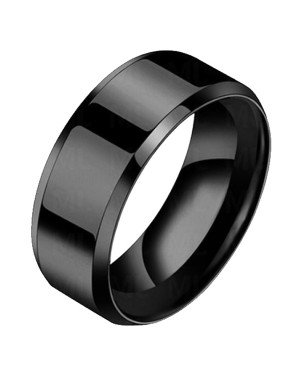 Heren ring Titanium Zwart 8mm