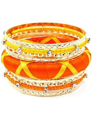 Hippe dames bangle Orange