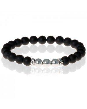 Kralen armband Memphis Agaat Silver Beads