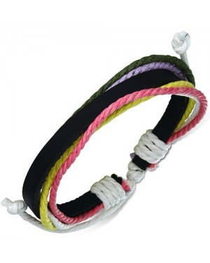 Leren armband Rope Multicolor