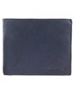 Leren heren portemonnee Excellanc Blauw