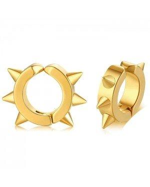 LGT Jewels Creolen Edelstaal Spike Gold