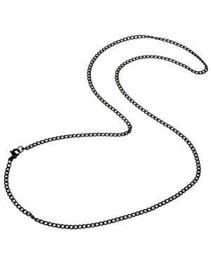 LGT Jewels Cubaanse koord ketting Zwart 3mm